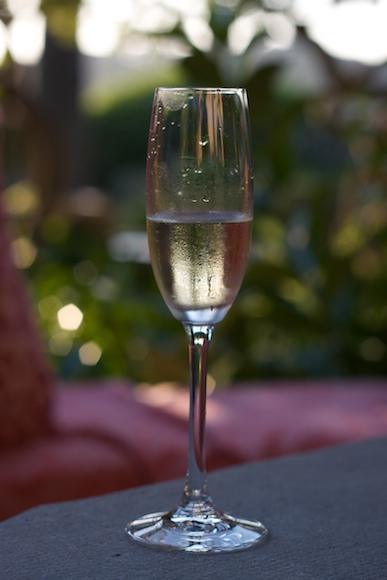 A glass of Cava in Mallorca