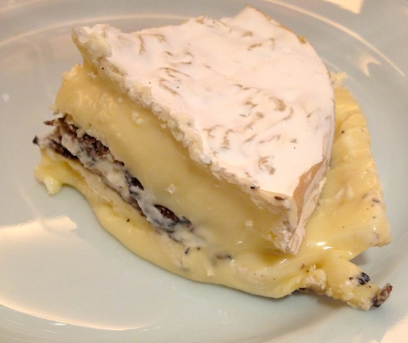 Truffled Tunworth cheese at wine matching lunch