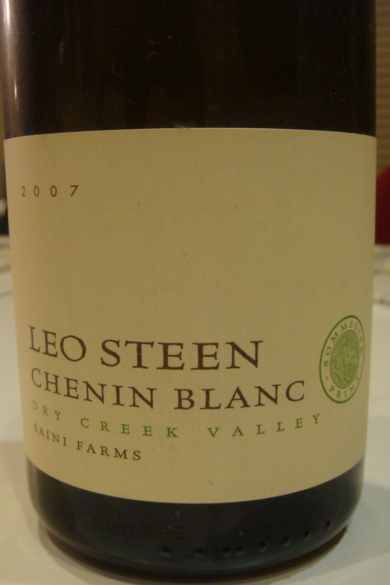 Leo Steen 2007 Chenin Blanc wine from Dry Creek Valley, Sonoma, CA