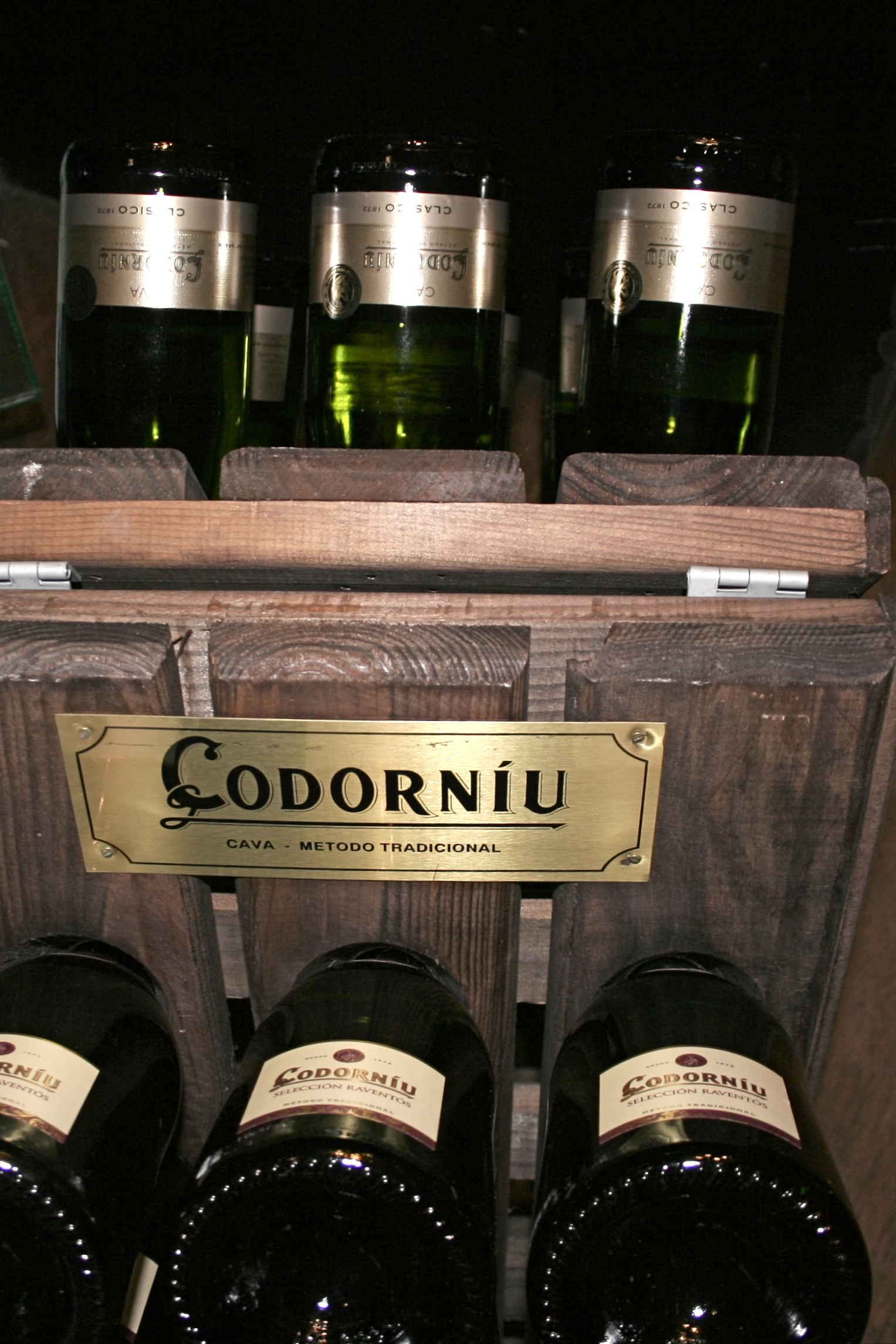 Bottles of cava made by Spanish family-owned company Codorniu