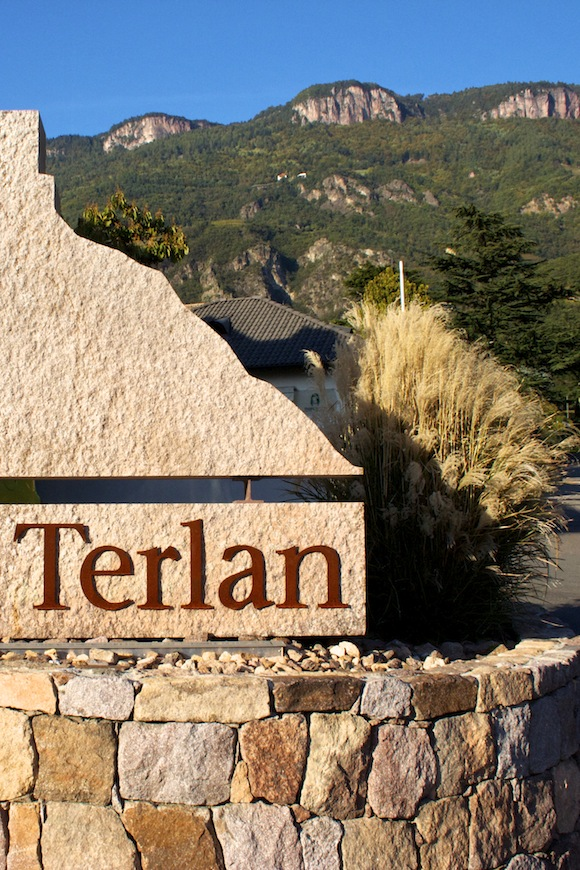 Exterior sign to Cantina Terlan, a winery in Alto Adige, Italy