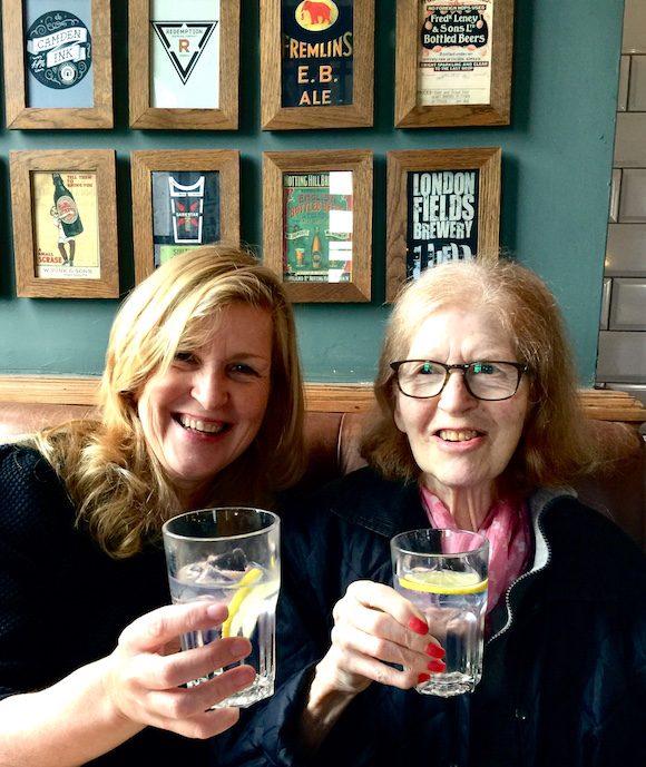 Drinking ginless tonics with my mum