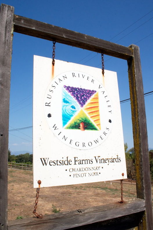 Russian River Winery Sign, Sonoma