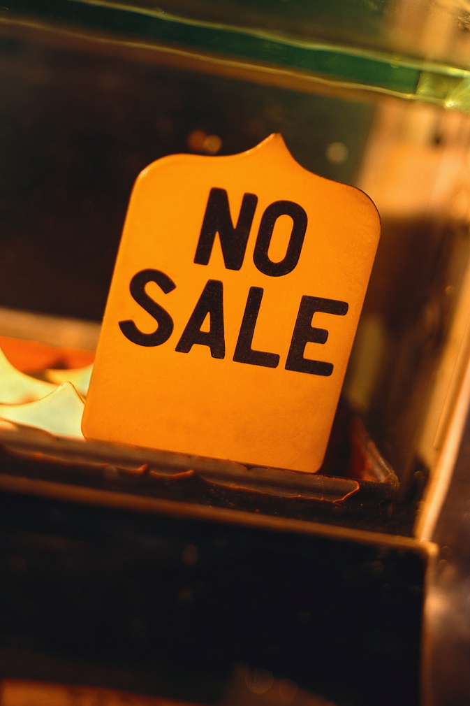 """Sign in till saying """"no sale"""""""