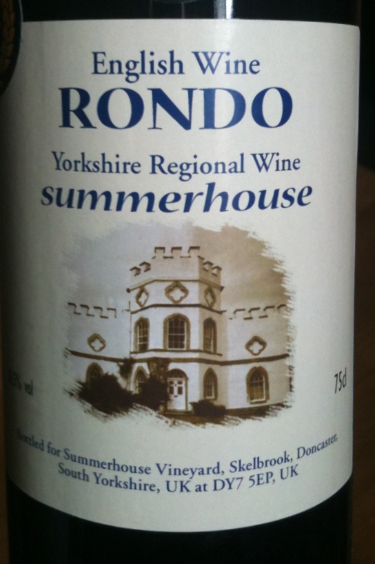 Summerhouse Rondo red wine from Yorkshire