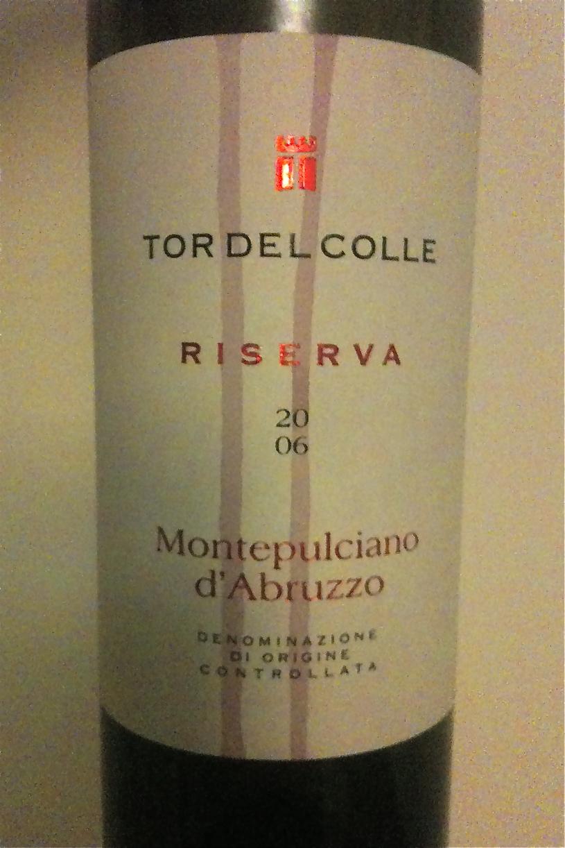 Tor Del Colle Montepulciano D'Abrruzzo 2007