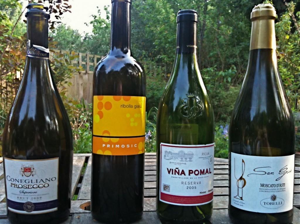 Prosecco, Ribolla Gialla, Rioja, Moscato D'Asti