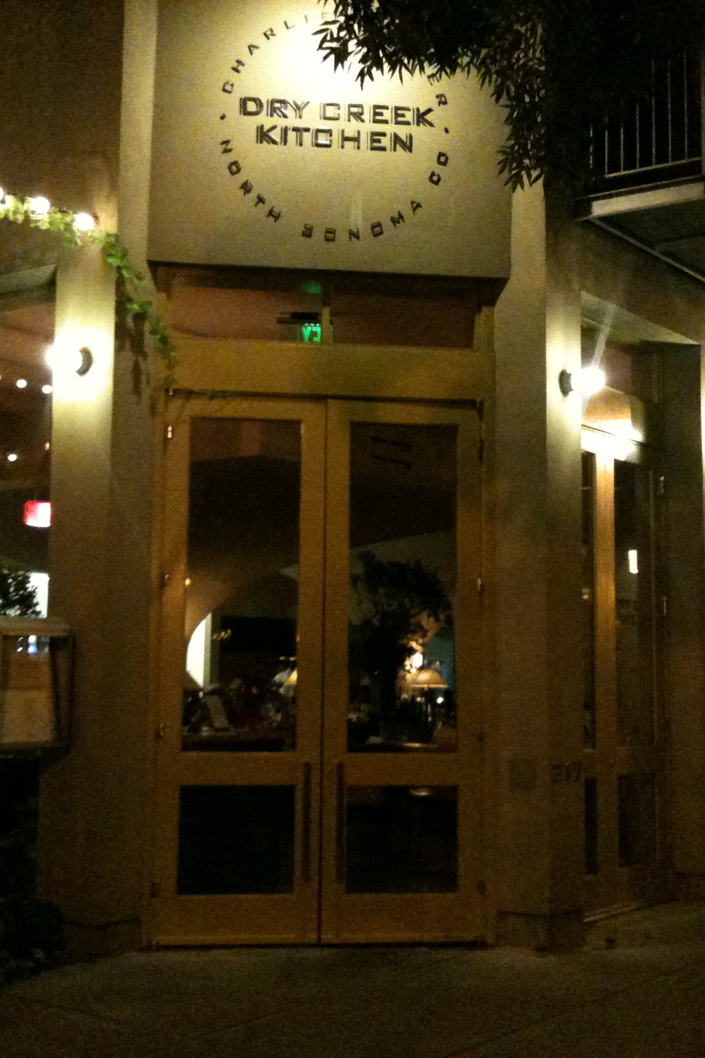 Exterior of the Dry Creek Kitchen, Healdsburg