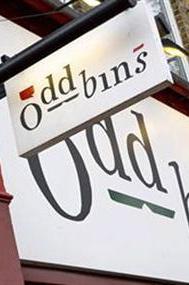 Shop signs for Oddbins wine merchants