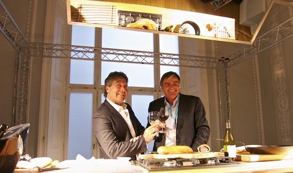 Celebrity chef John Torode and wine maker Neil McGuigan