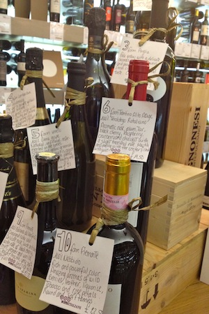 Best selling wines at Vini Italiani wine shop in London