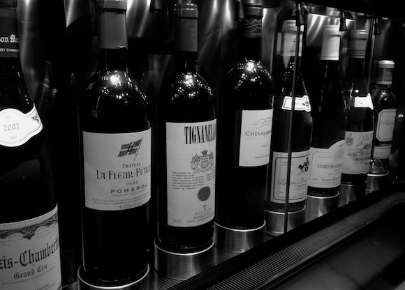 Some iconic wines lined up at New Street Wine Shop in London