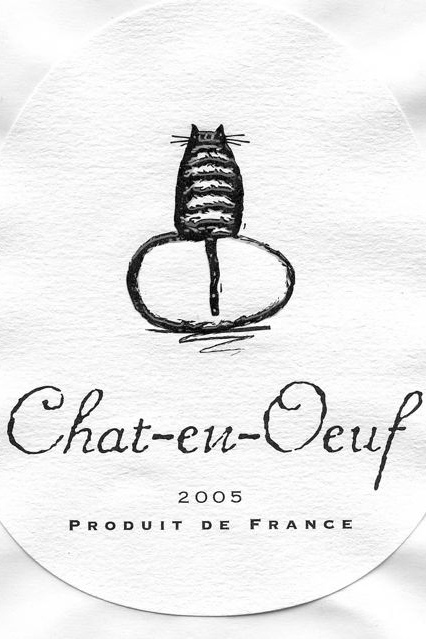 Chat-en-Oeuf Wine Label
